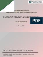 d. Segmentacion y Mercado Meta