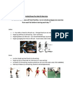 Ankle and Knee Rehab Sheet