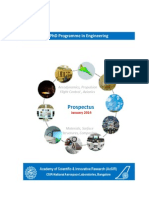 CSIR-NAL-AcSIR PhD on Aerospace Engineering - Prospectus - January 2014