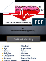 case report peripartum cardiomyopathy