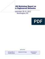 NITRD LSN Workshop Report on Complex Engineered Networks
