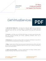 Virtual Assistant 81 Ways to get you help with!