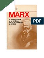 Contribucion a La Critica de La Economia Politica