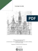 Trow Bridge Townhall - A Report on Conservation Legislation