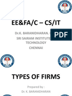 TYPES OF FIRMS - EE&FA/C