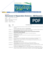 Advances in Separation Science Sunday in San Francisco