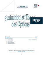 Evaluation Et Theorie Des Options