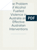 The Problem of Alcohol-Fuelled Violence in Australia and Effective Australian Policy Interventions