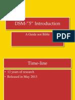 DSM 5 Introduction