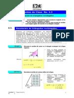Taller 2.3 Resolución de Triángulos Rectángulos (3)