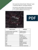 Analiza Calitativă a Apei Din Zona Petricani a Sectorului Rîșcani