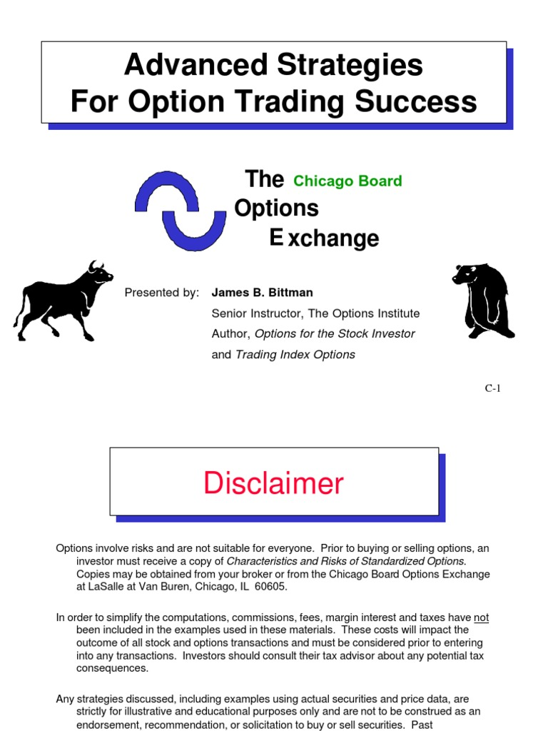 Advanced Strategies for Options Trading Success With James Bittman ...