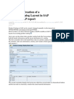 Automatic Creation of a Product Catalog Layout in SAP Through ABAP Report in Sap