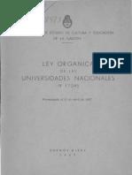 Ley Univrsidades 1967