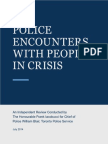 Police Encounters With People in Crisis 2014