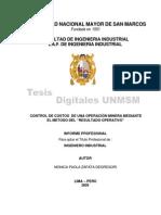 Control de Costos de Una Operacion Minera-tesis
