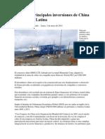 Las Cinco Principales Inversiones de China en América Latina