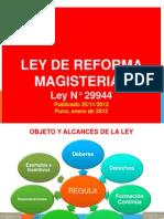 Ley 29944, Ley de Reforma Magisterial