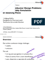Tackling Combustor Design Problems with Large Eddy Simulation of Reacting Flows