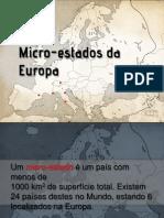 Microestados Da Europa