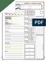 D&D Next Monster&NPC Sheet (Fan Made)