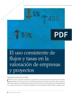 238 El Uso Consistente de Flujos y Tasas en La Valoracion de Empresas y Proyectos
