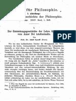 Zur Entstehungsgeschichte Der Lehre Spinozas Vom Amor Bei Intellectualis