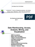Data Mining and Wearhousing