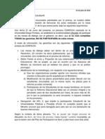 Comunicado Respecto Al Plan de Participación - FEUCN-C