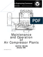 maintenance and operation of air compressor plants