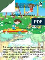 Estrategias pedagógicas para desarrollar el Lenguaje Oral y el Lenguaje Escrito de las niñas y niños de edades comprendidas entre 5 y 6 años