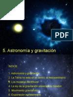 5. Astronomia y Gravitacion 4º