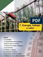 7. Energia Trabajo y Calor 4º