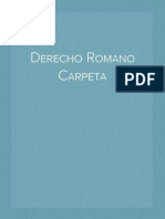 Derecho Romano Carpeta