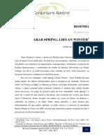 OLIVEIRA, Guilherme Z. Resenha - Arab Spring, Libyan Winter
