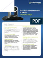 Minrray UV950-USB3.0 Video Conference Camera data sheet