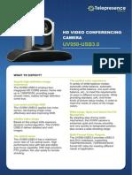 Minrray UV950-USB3.0 Video Conference Camera data sheet