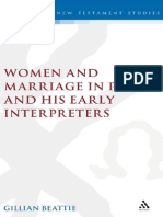 Women and Marriage in Paul and His Early Interpreters, Gillian Beattie