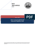 Ulster County Health Benefits Audit Report