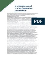 Intereses Presuntos en El Impuesto a Las Ganancias03!06!14