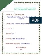 Proyecto de Investigacion de Flor