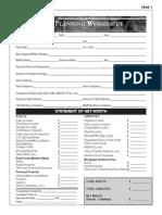 Financial Planning Worksheet