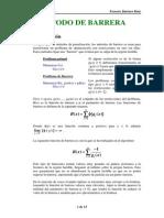 Algoritmo de Barrera Logaritmica