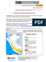 SENAMHI - Aviso Meteorológico 041 - Nevadas en Sierra Sur y Central Del 27 Al 30 de Julio