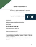 Materia Adm. Agroinduistrias