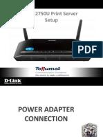 DSL-2750U Print Server Setup