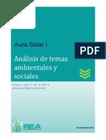 Aura Solar - ESIA December 2012