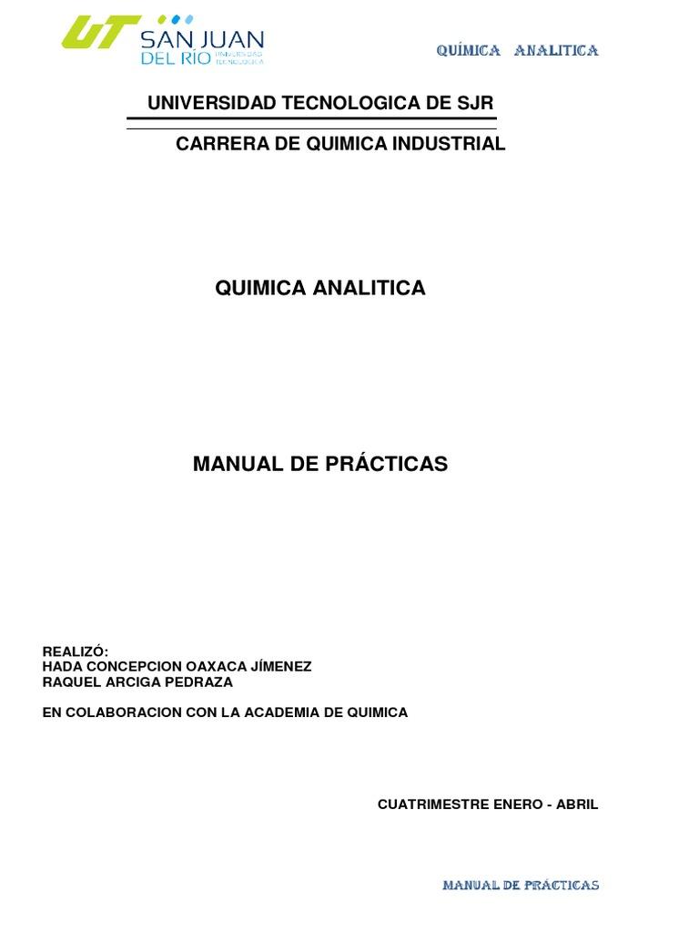 Quimica De Manual Analitica 2013 De Manual Quimica 29DIEH