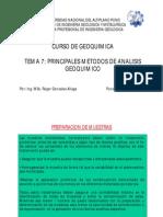 PG5- Principales Metodos de Analisis Geoquimico