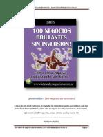 100 Negocios Brillantes Sin Inversion